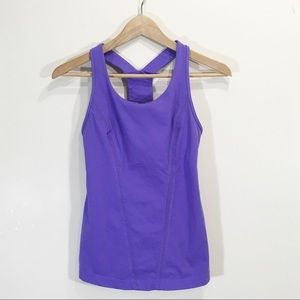 Lululemon Size 4 Purple Racer T Back Tank Top